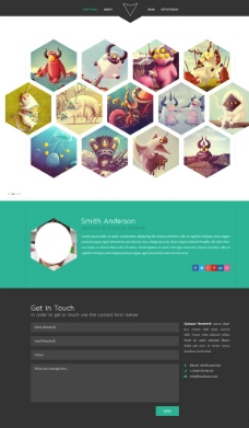 大气首页网站 首页网站模板图片