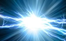 蓝色闪电图片