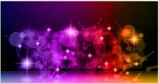 炫彩光斑背景图片