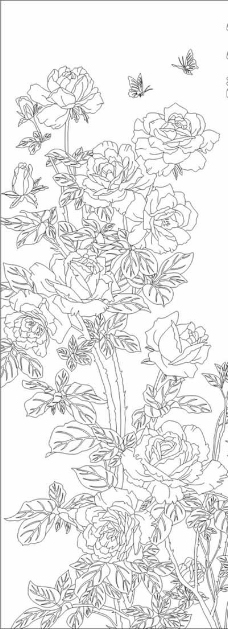 欧式金银花抽象背景墙
