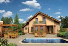 别墅泳池图片