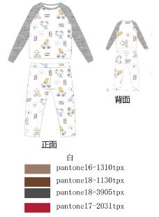 儿童服饰卡通印花居家内衣源文件图片