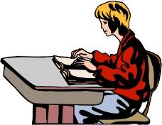 看书的年轻人