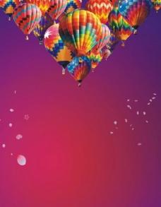 红色气球背景素材图片