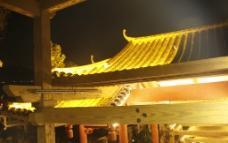 夜景古建瓦面图片