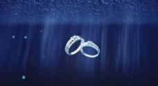 婚礼专用贝壳里出戒指背景素材