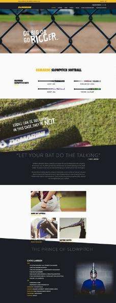 棒球网页设计图片
