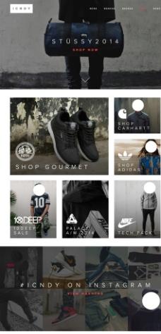 品牌服装网站图片