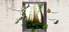 3D森林画图片