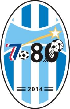 7080足球队队徽 高清cdr矢量图下载