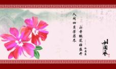 山寺桃花始盛开中国风背景素材