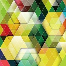 三角彩色背景矢量素材