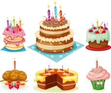 生日蛋糕背景矢量素材