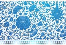 中国风传统古典花纹背景矢量素材