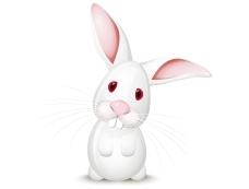 卡通兔子背景矢量素材