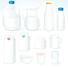 牛奶盒子背景矢量素材