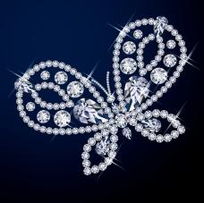 钻石蝴蝶背景矢量素材