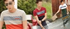 夏季男装T恤海报PSD下载