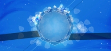 蓝色多边形背景图片