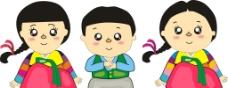 卡通韩服小孩图片