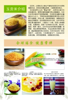 营养玉贡米宣传单