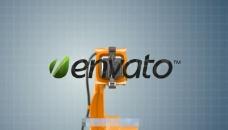 工业机器人图片展示AE模板