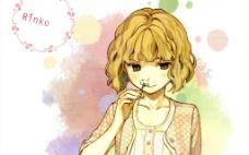 短发可爱少女
