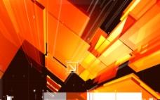 黄色创意科技背景素材图片