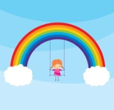 彩虹背景图片