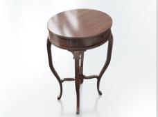 中式红木小圆桌3d模型下载