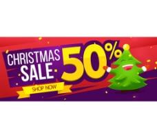 圣诞节促销BANNER图片