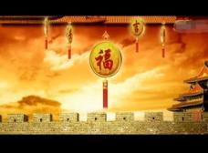 春节舞台VJ背景视频