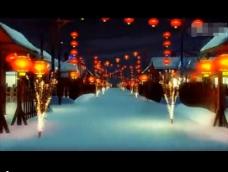 春节舞台LED背景