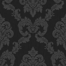 黑色大马士革壁纸素材图片