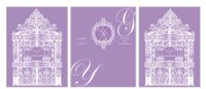 浅紫色城堡婚礼图片