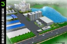 化工厂鸟瞰图图片