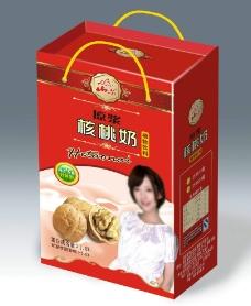 核桃奶礼盒效果图 展开图图片