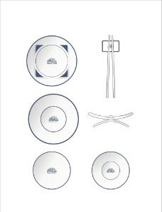 VI 餐具模板图片