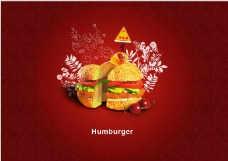 汉堡广告招贴ps设计文件下载