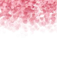 粉色轻盈爱心背景