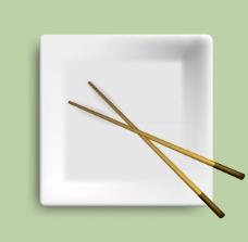 餐盘海报模板