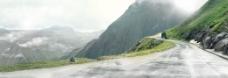 淘宝背景 路面背景 海报背景 山地过道