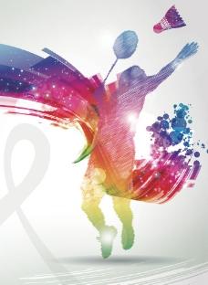 羽毛球俱乐部广告图片