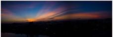 珠海夜景  夜景  晚霞图片