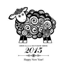 2015羊年素材 羊年矢量素材图片