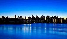 蓝色夜景模板