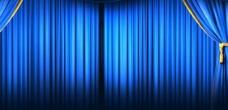 蓝色舞台模板
