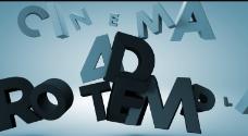 字母汇聚标志AE模板