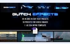 预置文本和视频AE模版