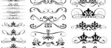 维多利亚风格花纹矢量素材图片